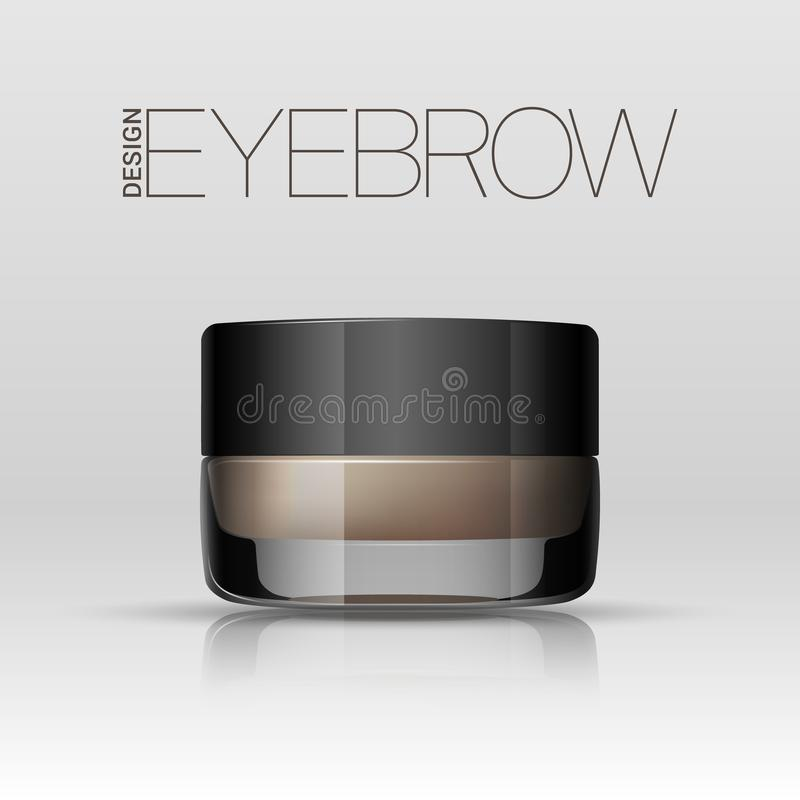 Coloring gel for eyebrows. Eyebrows makeup product. Vector vector illustration