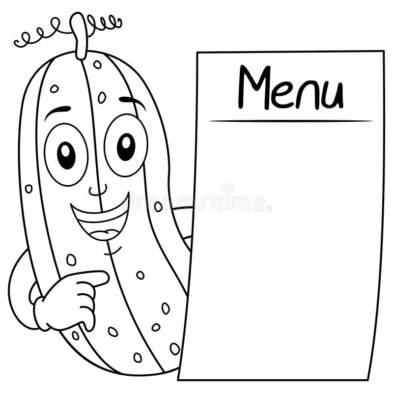 menu coloring pages - cucumber royalty free stock image sketch coloring page
