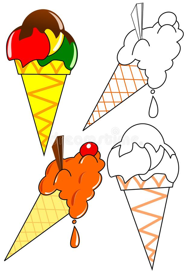 Download Coloring - ice cream stock illustration. Image of happy - 22605411