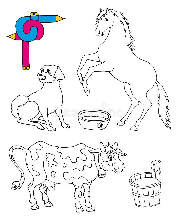 Download Coloring image animals stock vector. Image of various - 25228857