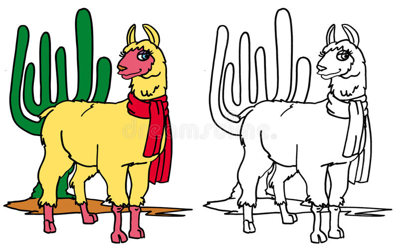 Download Coloring Llama Royalty Free Stock Photo - Image: 27161395