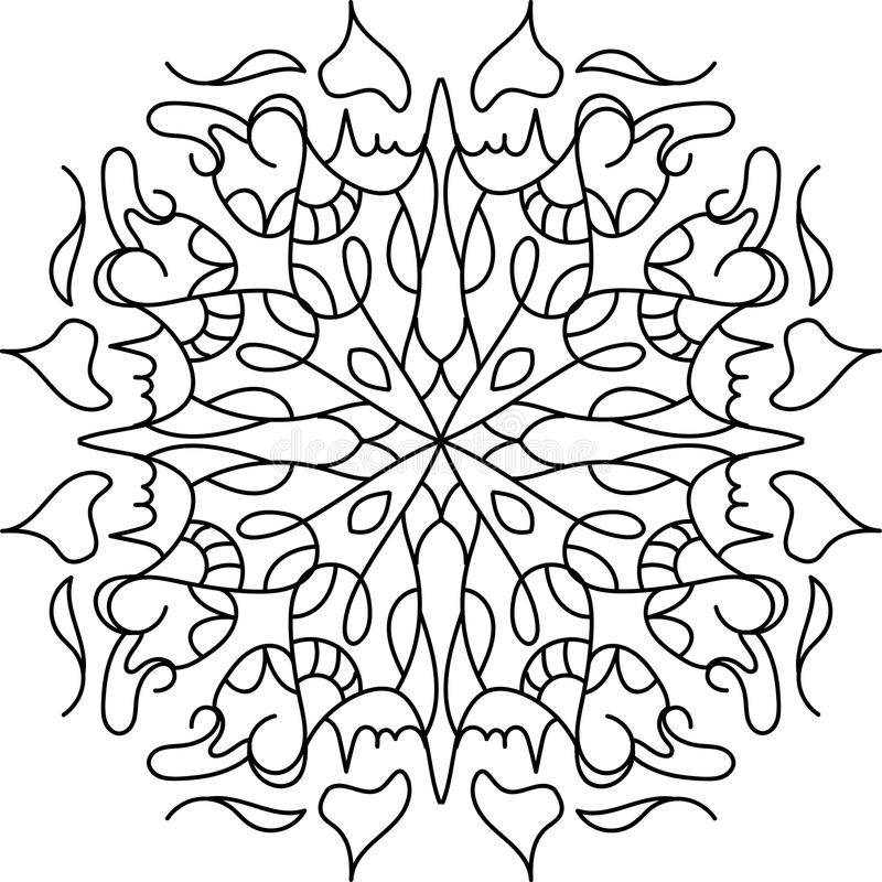Coloring mandala with floral elements stock photo