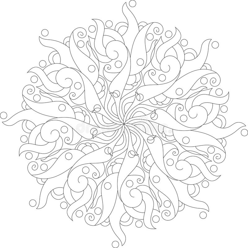 Coloring mandala with floral elements royalty free stock photography