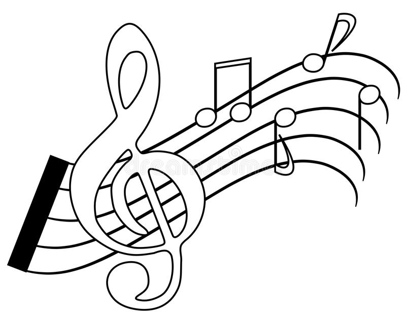 Coloring notes royalty free stock photography image for Sound of music coloring pages