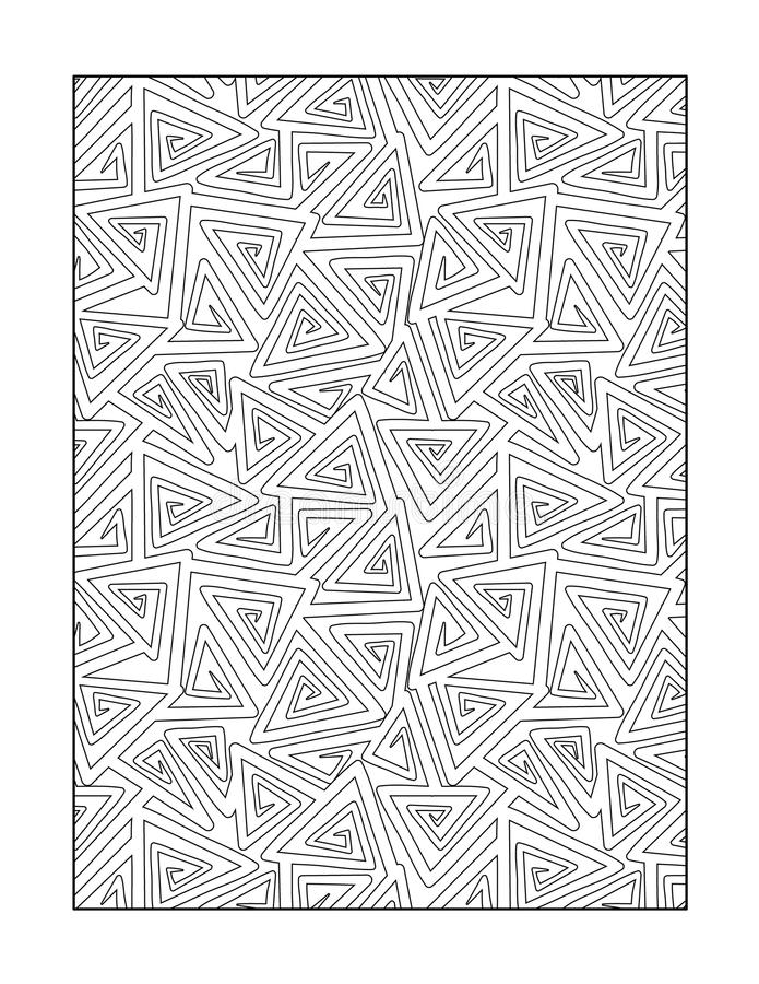 Coloring page for adults, or black and white ornamental background. Coloring page for adults (children ok, too) with whimsical abstract pattern, or monochrome royalty free illustration