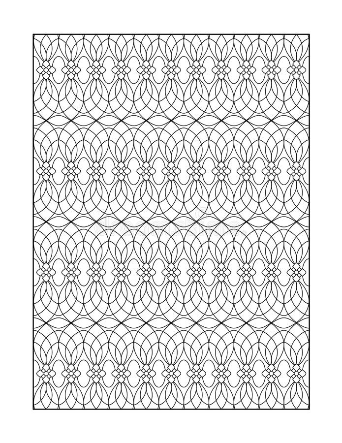 Coloring page for adults, or black and white ornamental background. Coloring page for adults (children ok, too) with whimsical pattern, or monochrome decorative royalty free illustration