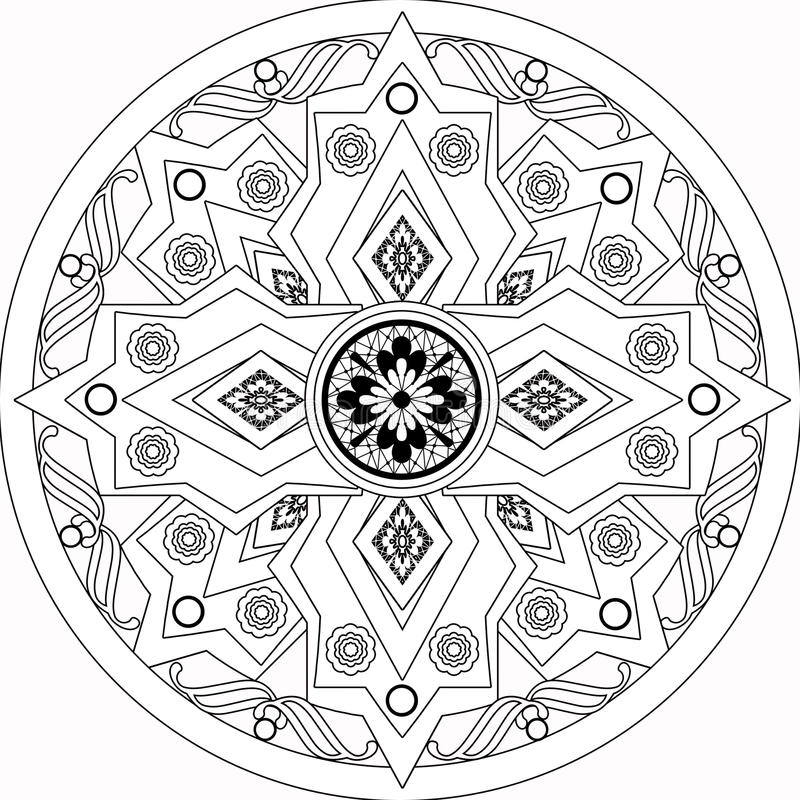Coloring page book with decorative ornamental elements royalty free illustration