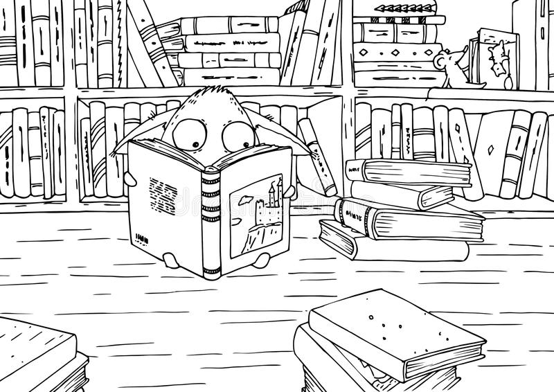 coloring pages of library books - photo#24
