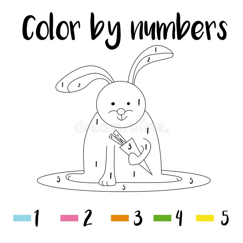 Coloring Page. Color By Numbers Educational Children Game, Drawing Kids  Activity, Printable Sheet. Animals Theme Stock Vector - Illustration Of  Activity, Kindergarten: 170851011