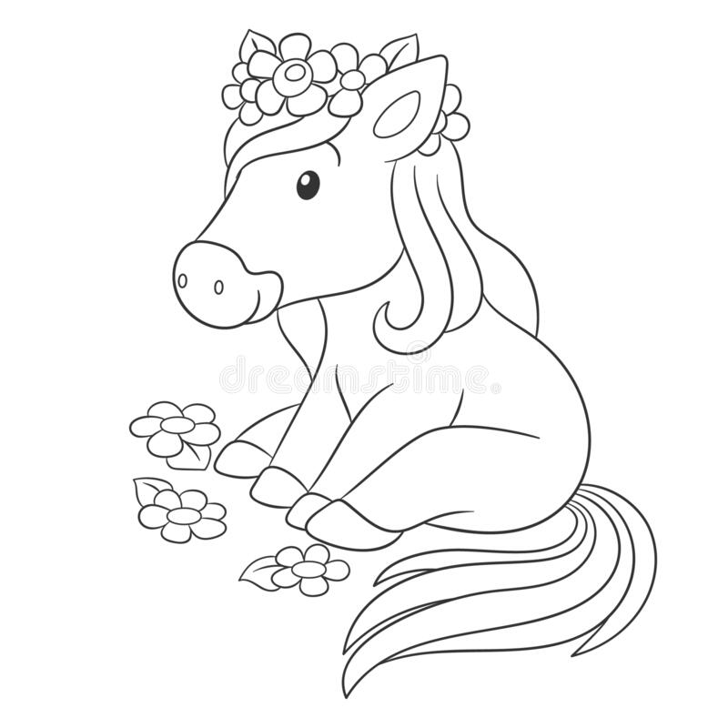 Horse Baby Coloring Stock Illustrations – 1,814 Horse Baby Coloring Stock  Illustrations, Vectors & Clipart - Dreamstime