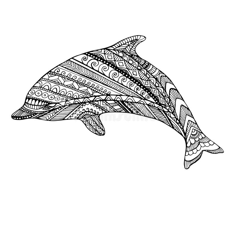 Dolphin And Ocean Waves Coloring Page For Children And ...