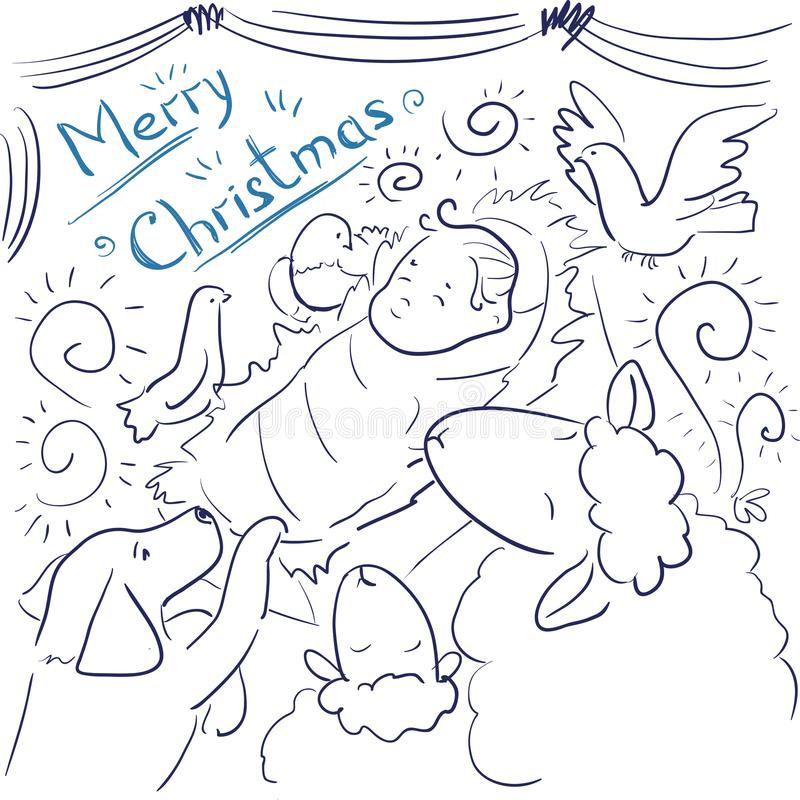 Merry Christmas Coloring Card Personalized Announcement: Greeting Card Merry Christmas Stock