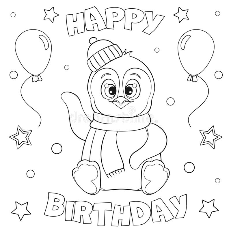 - Happy Birthday Coloring Illustration Stock Illustrations – 2,486 Happy  Birthday Coloring Illustration Stock Illustrations, Vectors & Clipart -  Dreamstime