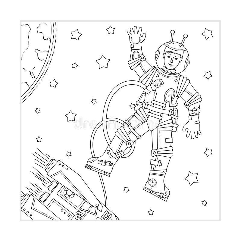 Download Coloring page for kids stock vector. Illustration of planet - 26891967