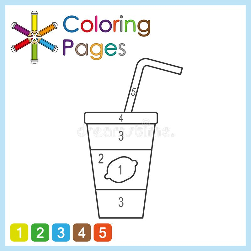 Coloring page for kids, color the parts of the object according to numbers, color by numbers. Activity pages babies background black blank book books cartoon royalty free illustration