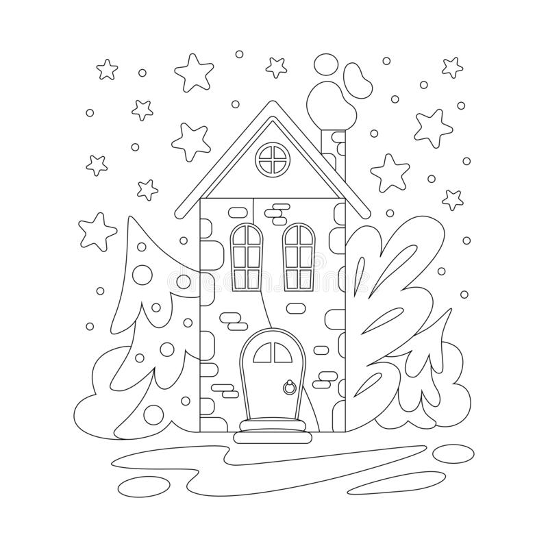 Coloring Winter House Stock Illustrations 808 Coloring Winter House Stock Illustrations Vectors Clipart Dreamstime