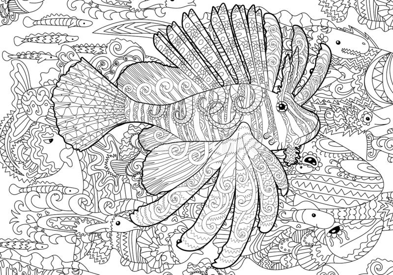 Coloring Page With Baby Bear Stock Vector
