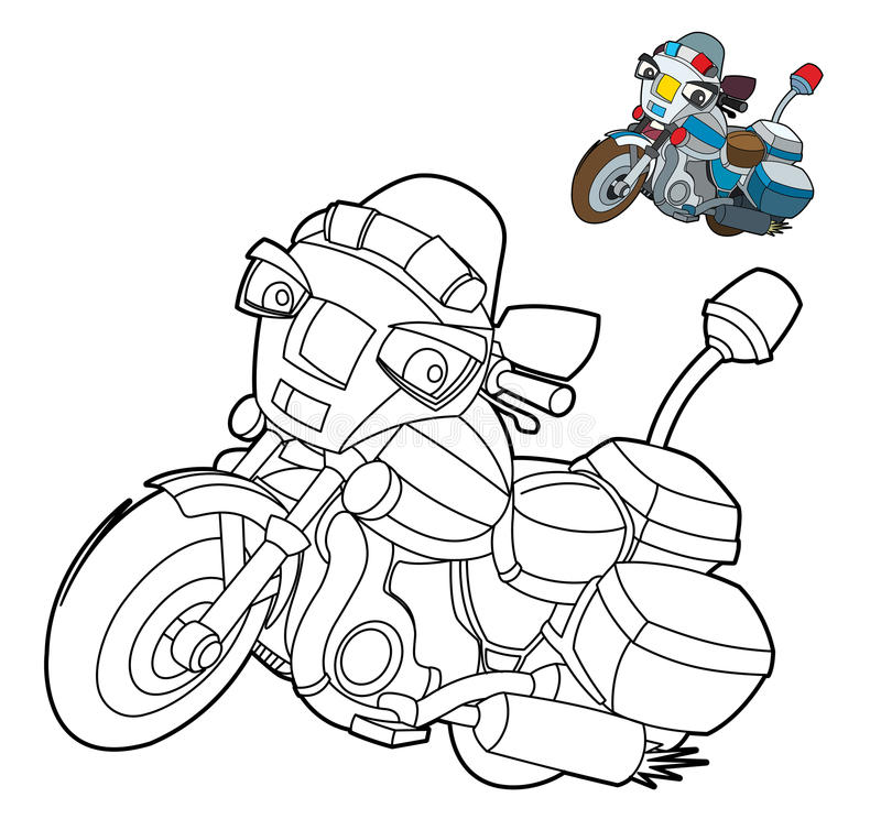 coloring page - motorcycle