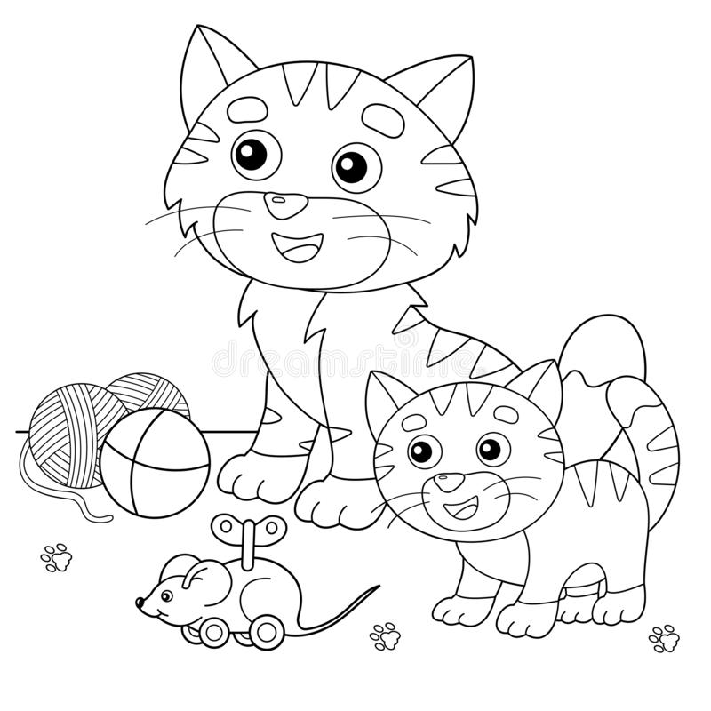 Cat House Outline Stock Illustrations 2 040 Cat House Outline