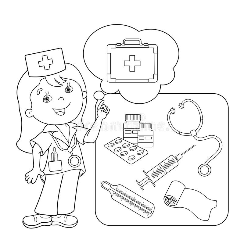 Doctor Coloring Stock Illustrations 776 Doctor Coloring Stock Illustrations Vectors Clipart Dreamstime
