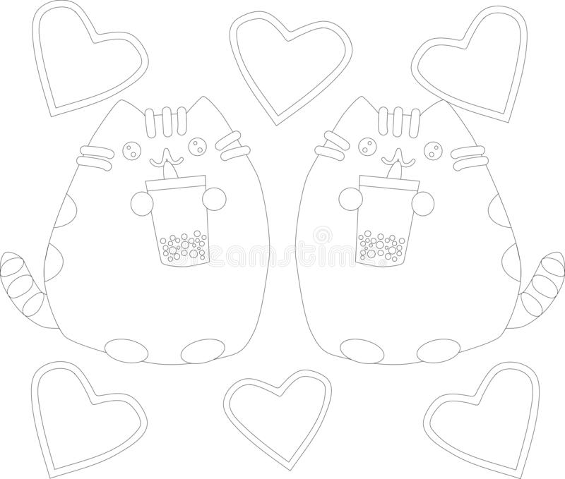 coloring page outline cartoon fluffy cat coloring book coloring page outline cartoon fluffy cat coloring book kids