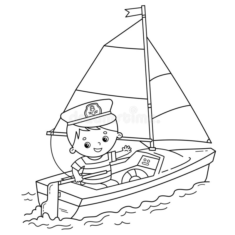 Printable Sailboat Coloring Pages in 2020 | Boat drawing, Coloring ... | 800x800