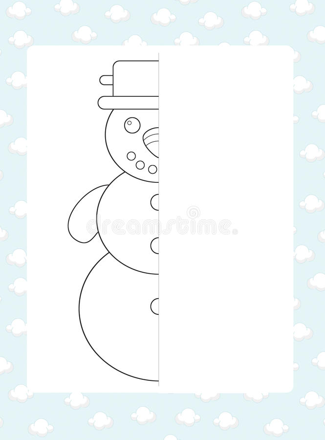 The Coloring Page With Pattern - Illustration For The Kids Royalty Free Stock Image