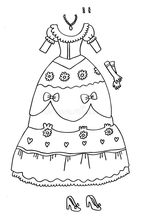 Coloring Page - Princess Wardrobe