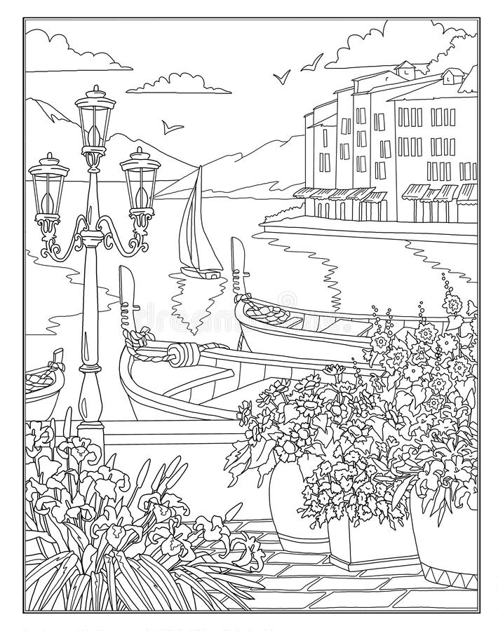 - Coloring Page The Secret Garden Stock Illustration - Illustration Of  Coloring, Book: 127840246