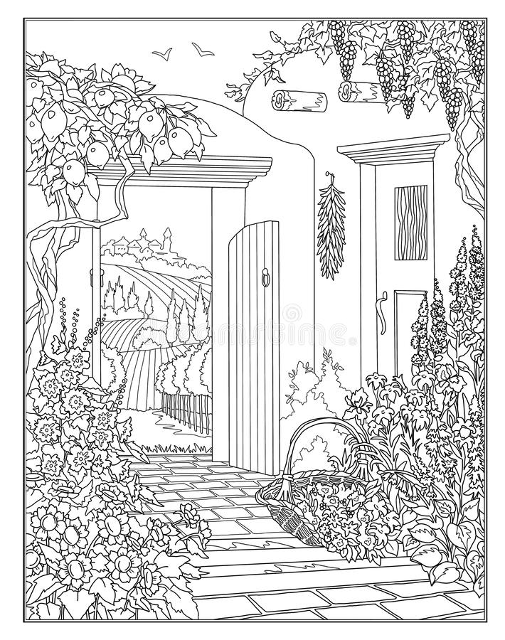 - Coloring Page The Secret Garden Stock Illustration - Illustration Of  Seamless, Book: 127840296