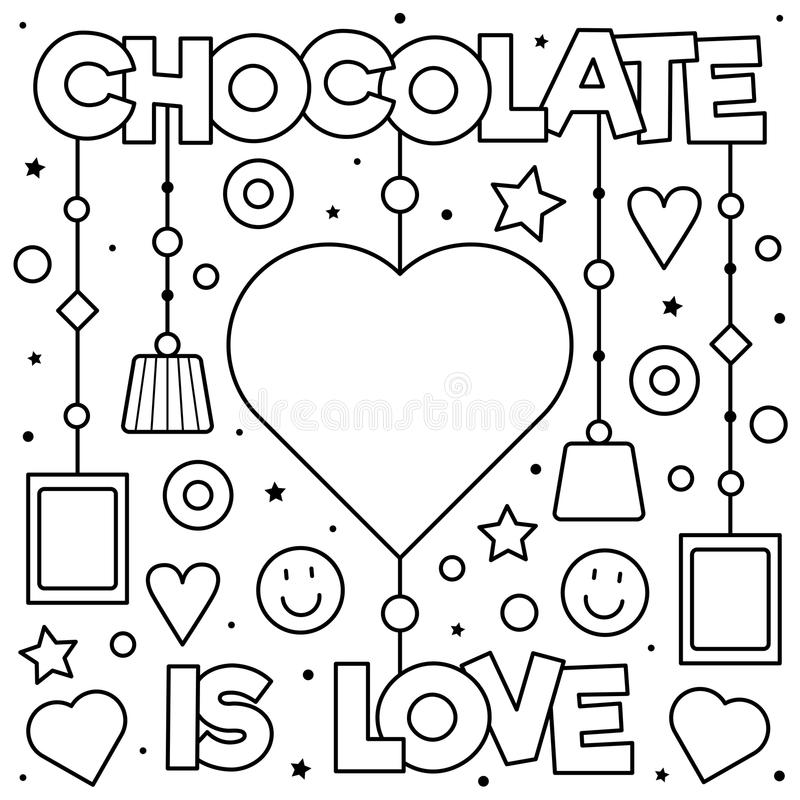 Chocolate coloring page stock illustration. Illustration of ...