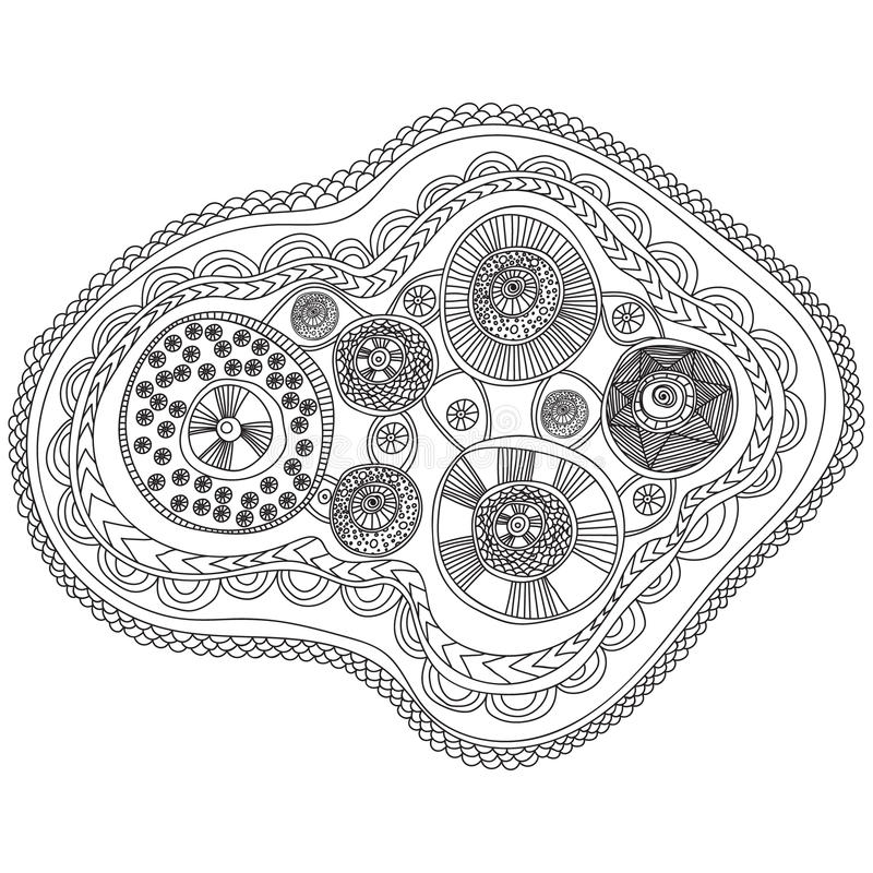 Coloring Pages For Adults Book Black And White Abstract Pattern With Circle