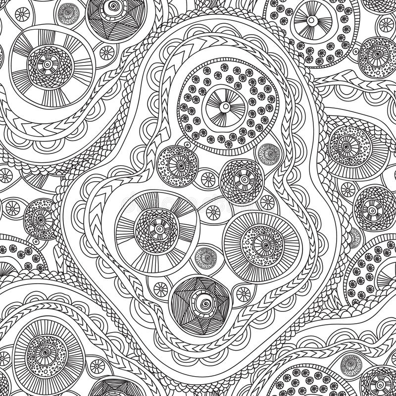 Coloring Pages For Adults BookSeamless Black And White Abstract Pattern With Circle