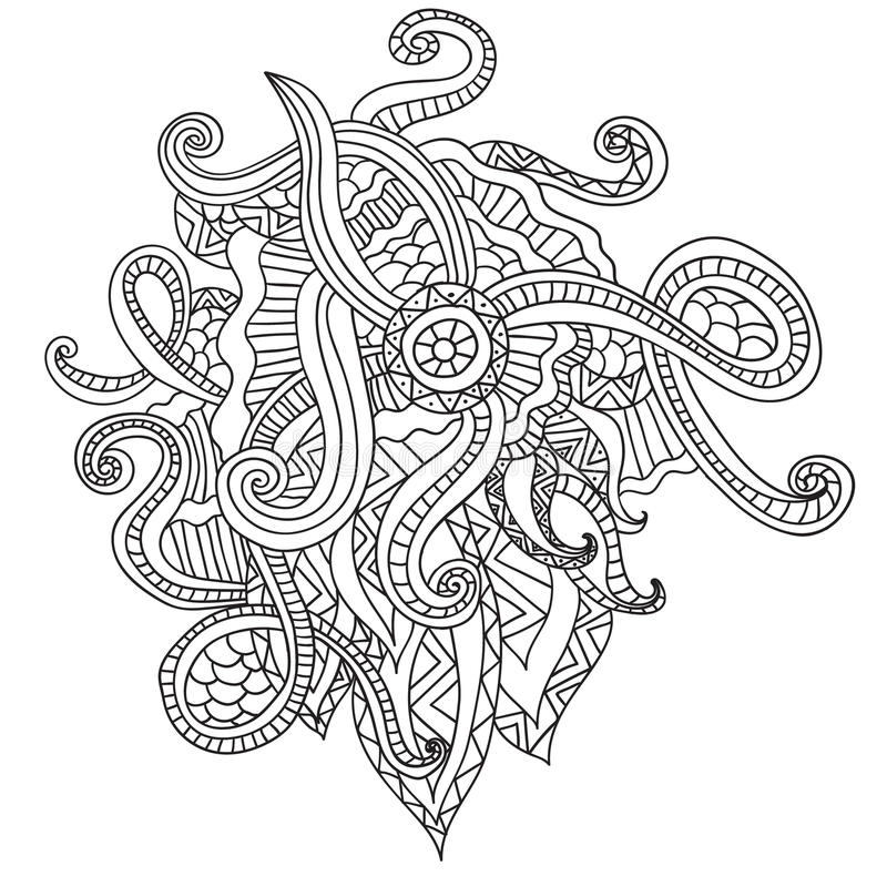 Download Coloring Pages For Adults BookDecorative Hand Drawn Doodle Nature Ornamental Curl