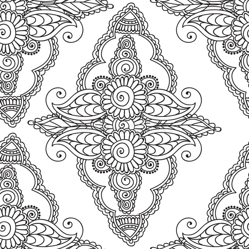 mehndi coloring pages - coloring pages for adults seamles henna mehndi doodles