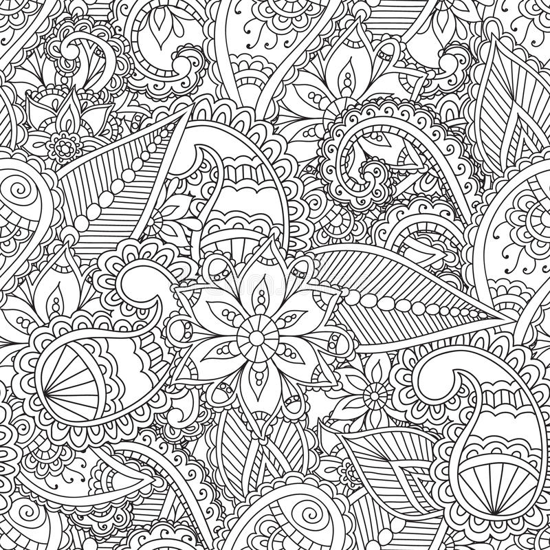 Coloring Pages For Adults. Stock Vector. Illustration Of Henna - 69060693