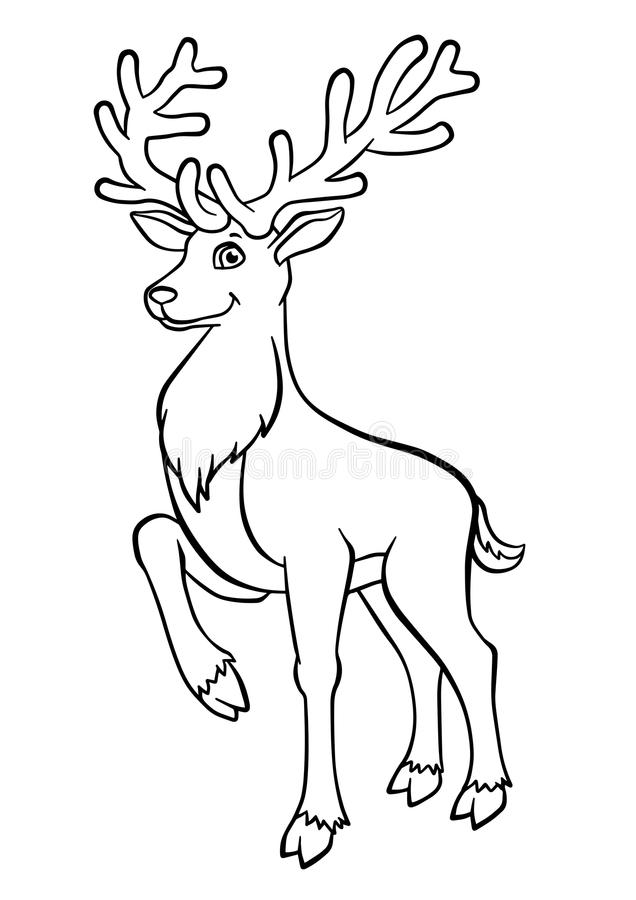 Download Coloring Pages. Animals. Cute Deer. Stock Vector   Illustration Of  Child,