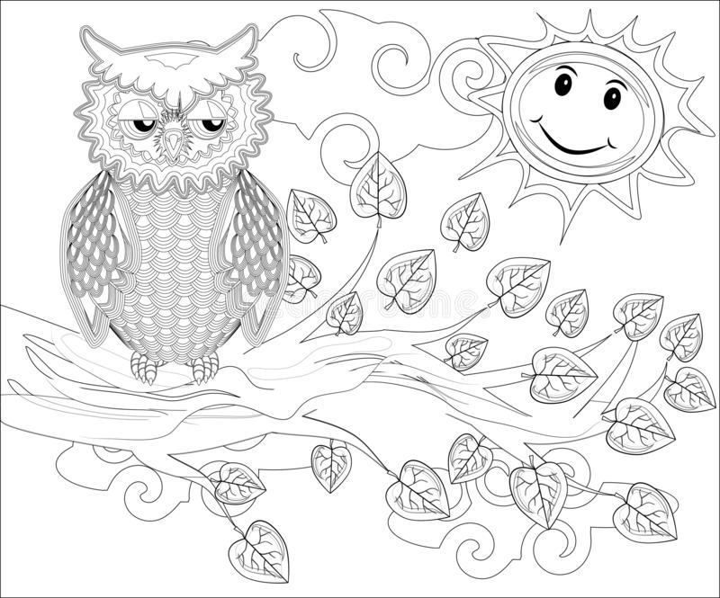Owl Coloring Pages Stock Illustrations 199 Owl Coloring Pages Stock Illustrations Vectors Clipart Dreamstime