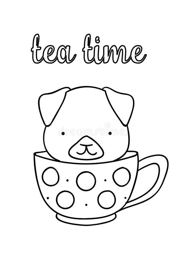 Tea Cup Coloring Stock Illustrations 1 277 Tea Cup Coloring Stock Illustrations Vectors Clipart Dreamstime