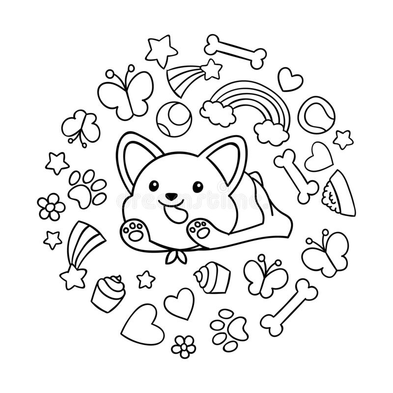 newborn puppy coloring pages to print | Cute Coloring Pages of ... | 800x800