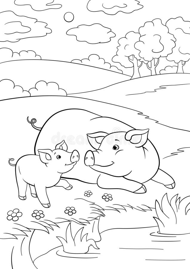 Duck Pond Coloring Page for Adults – coloring.rocks! | 900x636
