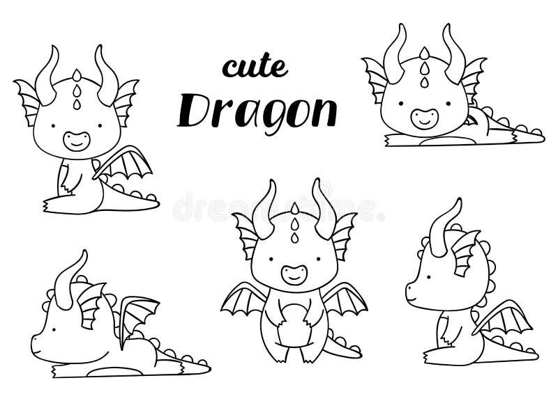 Cute Dragon Black White Stock Illustrations 1 879 Cute Dragon Black White Stock Illustrations Vectors Clipart Dreamstime