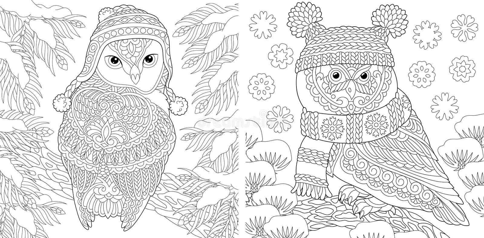 Winter Animals Coloring Pages - Free Printable Coloring Pages ... | 394x800