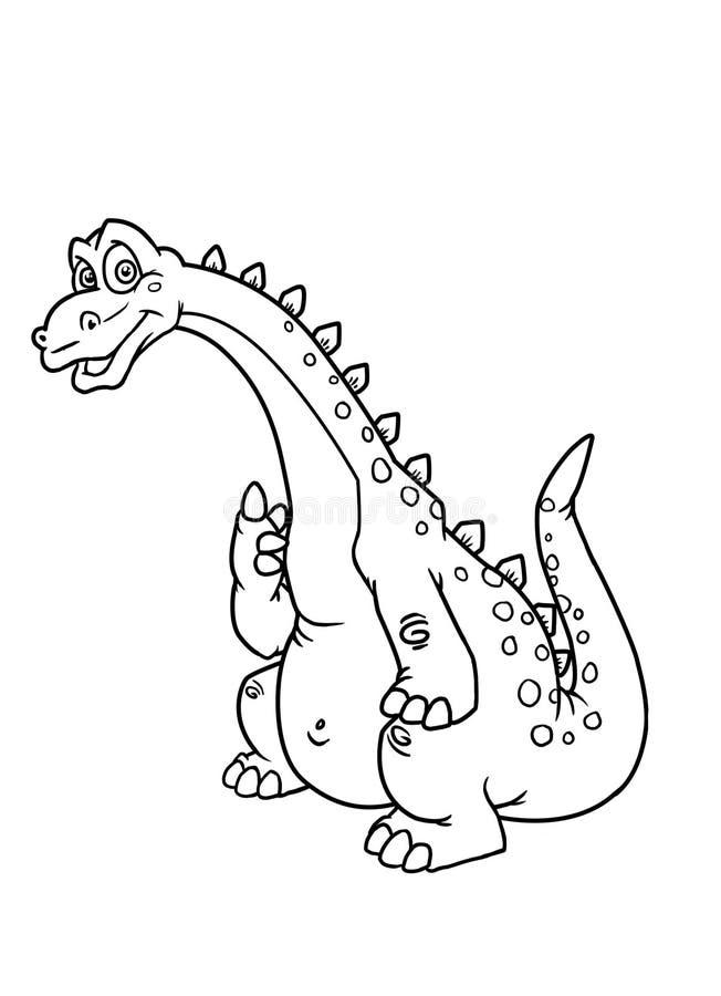 Download Coloring pages dinosaur stock illustration. Illustration of dinosaur - 15595993