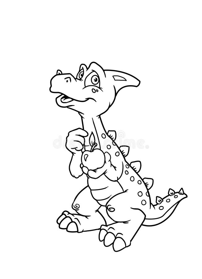 Coloring pages dinosaur stock illustration