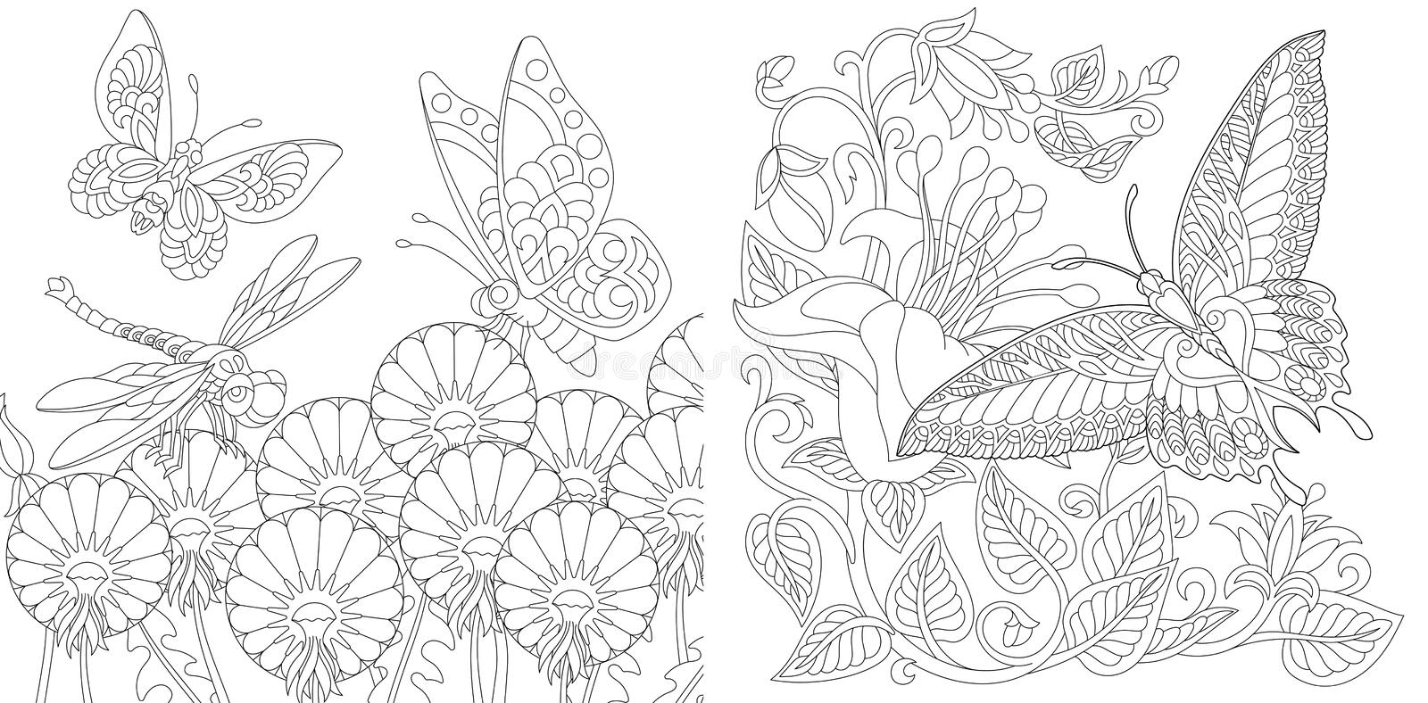 - Butterfly Flowers Coloring Pages Stock Illustrations – 143 Butterfly Flowers  Coloring Pages Stock Illustrations, Vectors & Clipart - Dreamstime