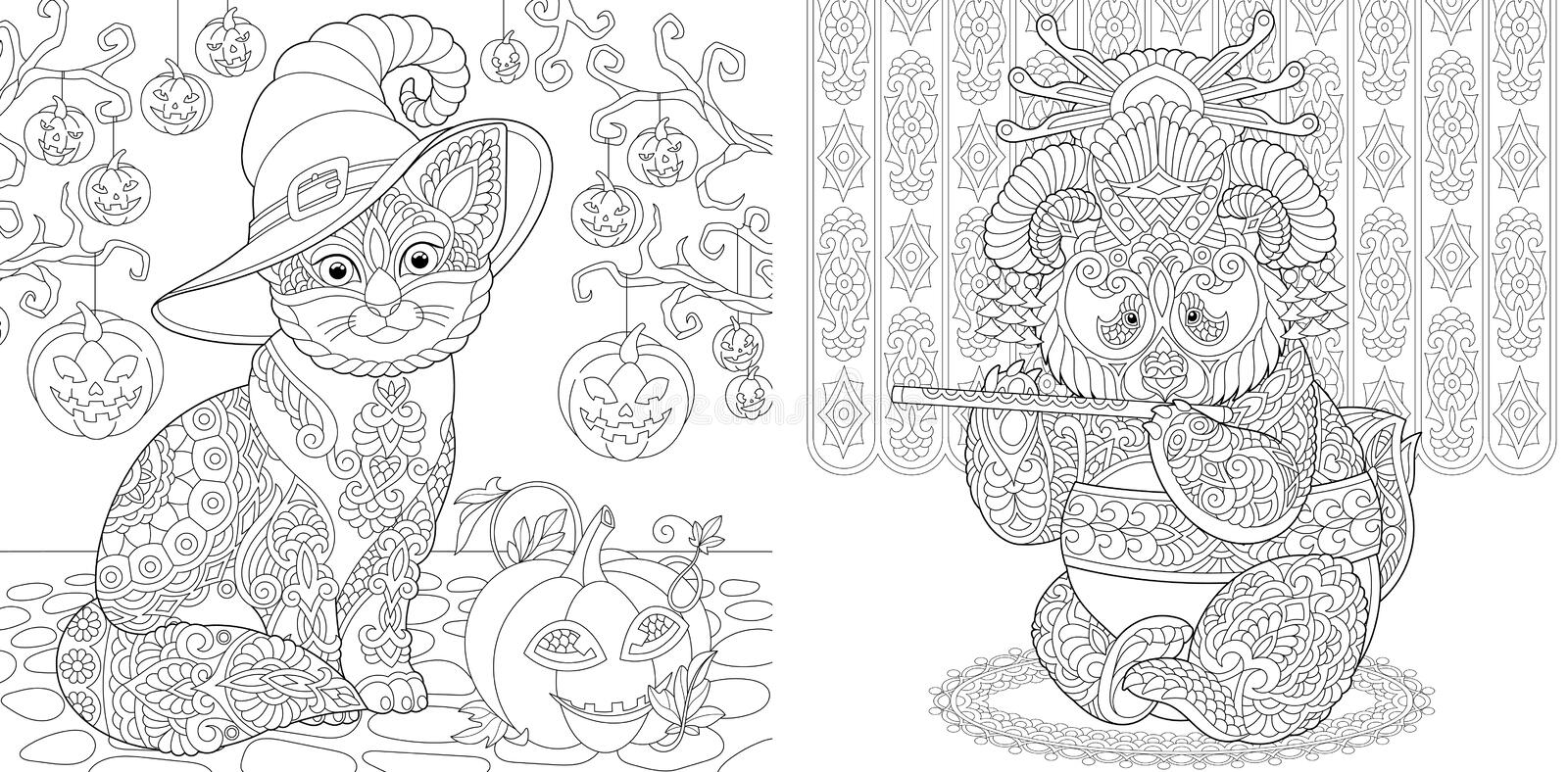 Halloween Coloring Pages Stock Illustrations – 251 Halloween Coloring Pages  Stock Illustrations, Vectors & Clipart - Dreamstime