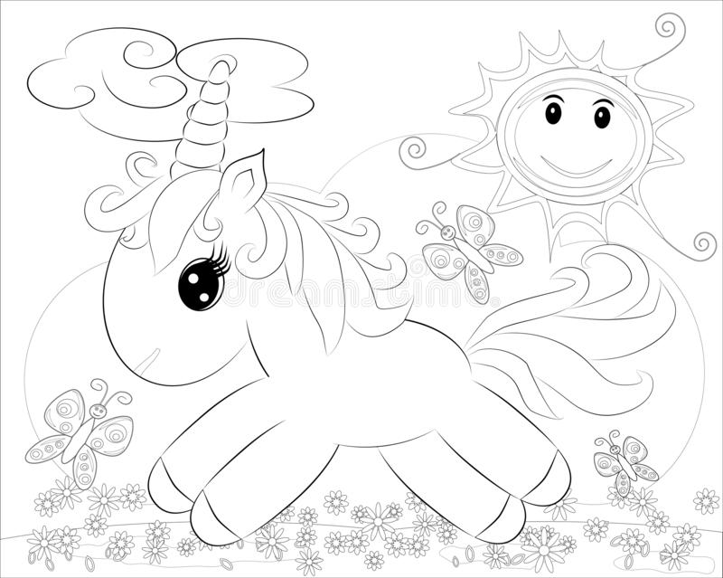 Pony Coloring Pages Stock Illustrations – 148 Pony Coloring Pages ...