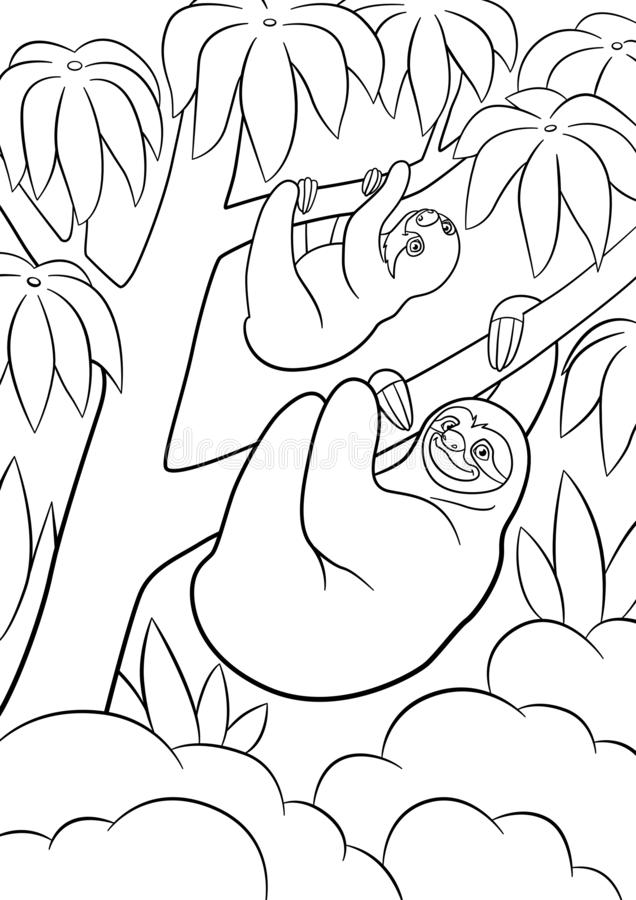Printable Sloth coloring pages - Kids Coloring Pages | 900x636