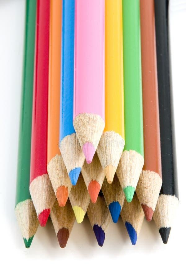 Coloring Pencil stock image. Image of orange, writing, macro - 742619
